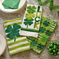 St. Patrick's Day Tea Towels, Set of 3