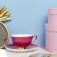 Bombay Duck Tea Cup and Saucer Set in Pink at asos.com