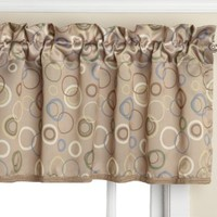 Sun Zero Celestia 54 by 18-Inch Tailored Valance, Taupe