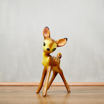 15 Percent Off Use Code TAKEMEHOME15 : 1940's Evan K. Shaw Bambi Faline Doe Deer Ceramic Figurine Statue