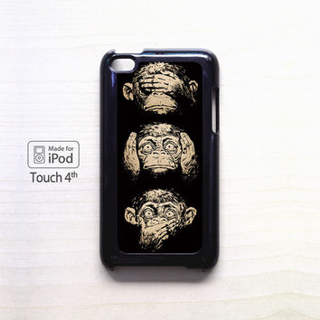 illustrations three wise monkeys wisdom for Ipod 4/Ipod 5 apple case