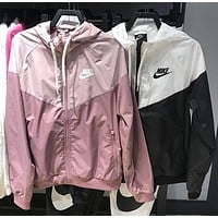 """Nike"" Fashion Jacket Coat Hooded Sportswear Coat Windbreaker"