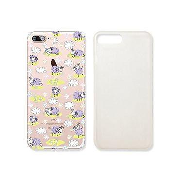 Cute Sheep Pattern Slim Iphone 7 Case, Clear Iphone Hard Cover Case For Apple Iphone 7 Emerishop (iphone 7)