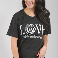 Traditional Greek Love Tee - Alpha Omicron Pi