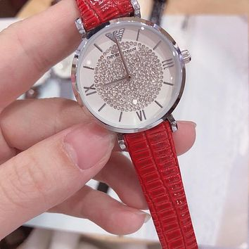 DCCK A0012 Armani Emporio Fashion Waterproof Watches Red