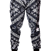 The Caesars Roses Sweatpants in Black