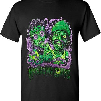 Marijuana Zombie Smoke Joint 420 Solid Graphic T-Shirts