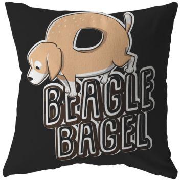 Beagle Bagel Funny Quote - Exclusive PIllow Collection