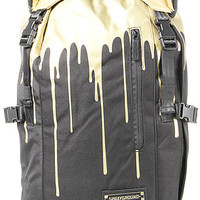 Sprayground  The Gold Drips Top Loader Backpack in Black Gold : Karmaloop.com - Global Concrete Culture
