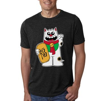 Maneki Neko Purridge Men's Tee