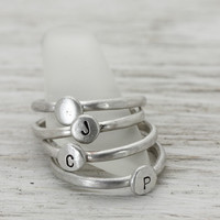 Pebble Stack Rings