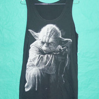 Tank Top Jeda Yoda Funny Vintage  Star Wars T-Shirt Yoda Pop Shirt The Star Wars Film Movie Shirt Tank Black Singlet Tee Unisex Size M