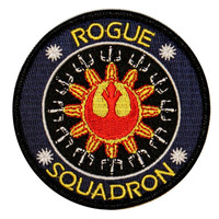 Rogue Squadron Logo X-Wing Rebel Alliance Star Wars Embroidered Iron On Patch