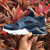 Best Online Sale Nike Air Huarache 4 Run Rainbow Ultra Breathe Women Men Blue Reflective vampire Running Sport Casual Shoes Sneakers - 857909-833-38