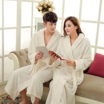 Thick Thermal Bath Robe Coral Fleece