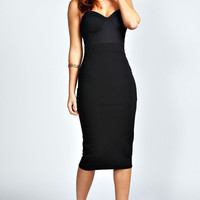 Taylor Contrast Colour Midi Bodycon Dress
