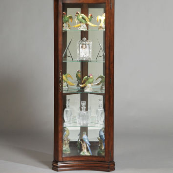 Gallery Curved Curio Cabinet by Pulaski Furniture
