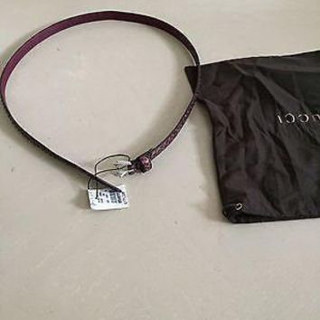 NWT Retail Price $699 Gucci Women??s Genuine Python Leather Belt Made in Italy 30