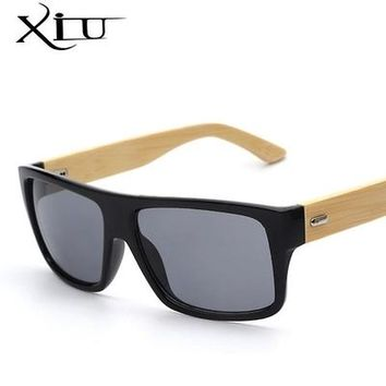 New Fashion Bamboo Sunglasses Men Sun glasses Brand Designer Women Mirror Original Eyewear Oculos de sol Masculino