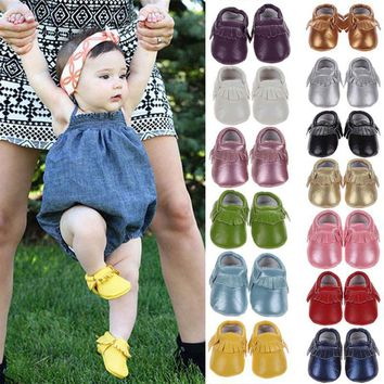 spring baby shoes newborn pu leather baby moccasins shoes for girls kids newborn boys  number 1