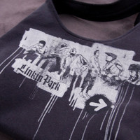 LINKIN PARK - Upcycled Rock Band T-shirt Purse - OOAK