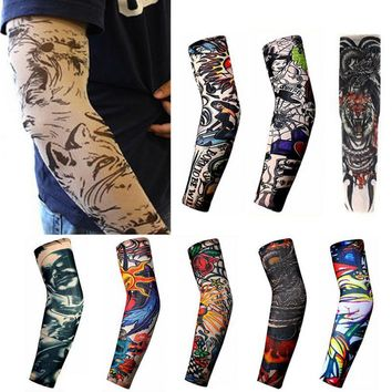1Pcs Trendy Men Women Tattoo Sleeve New High Elastic Fake Temporary  Designs Summer Sunscreen Body Arm Warmers