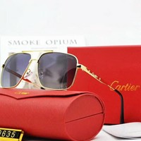 Cartier Polarized Metal Mens Square Sunglasses F-A-SDYJ NO.1
