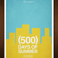 500 Days of Summer Minimal Movie Poster - Inspired by the Marc Webb film - 11x17