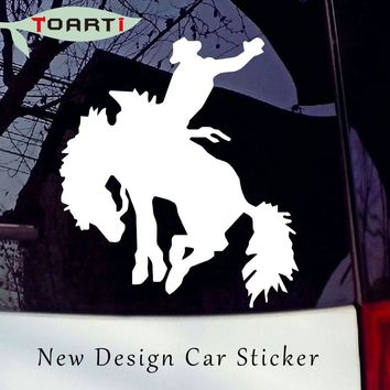 12.7*11.2 CM Rodeo Bronco Rider Horse Decals Creative Animal Personality Vinyl Car Sticker Strong Adhesive Stickers