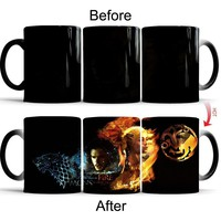 Game Of Thrones Color Changing Coffee Mugs With Jon Snow Daenerys Targaryen Picture Dragons Wolf Totem Pattern Mug Coffee Cup