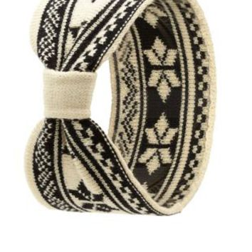 Fair Isle Sweater Knit Head Wrap by Charlotte Russe