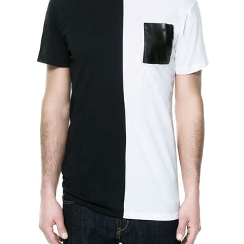 TWO-TONE T-SHIRT - T-shirts - Man - ZARA United States