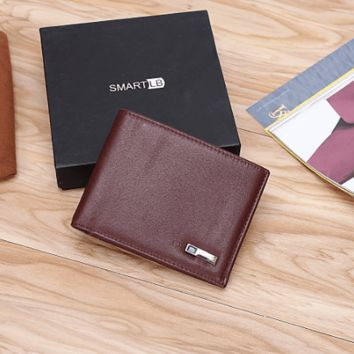 Smart Anti-Lost Wireless Leather Wallet with GPS Tracking