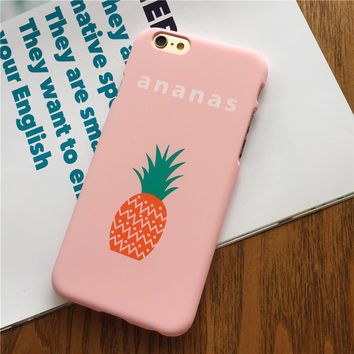 Fruit Pineapple iPhone 7 7Plus & iPhone se 5s 6 6 Plus Case Cover +Gift Box