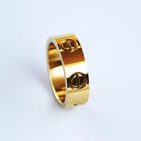 Designer Inspired Love Ring - Ring - Gold Love Ring  - Cartier Inspired LOVE Ring - Screw Ring - Gold Ring - Rose Gold Ring - Silver Ring