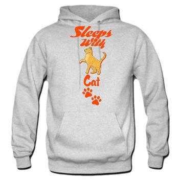 SLEEPS-WITH-CAT hoodie