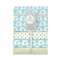 Carter's 4 Pack Flannel Elephant Print