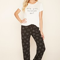 You Kitten Me Graphic PJ Set
