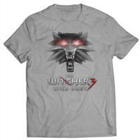 Witcher 3 Wild Hunt Logo T Shirts Mens T Shirt