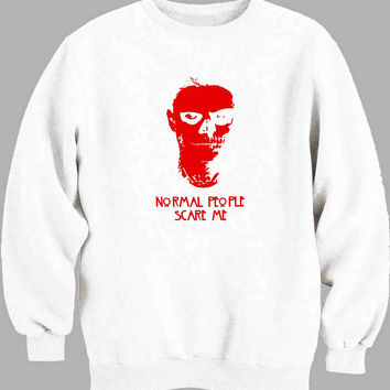 normal people scare me red Sweater for Mens Sweater and Womens Sweater ***