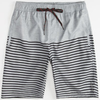 Valor Captain Mens Hybrid Shorts - Boardshorts And Walkshorts In One Grey  In Sizes