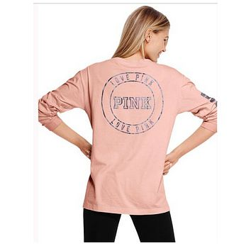 Victoria's Secret Fashion Women's Summer Loose Top Loose Top Women's Casual T-Shirt