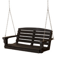 Michael Anthony Furniture Gaea Black Poly Lumber Outdoor Swing