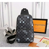 LV Louis Vuitton MEN'S Damier Graphite Pixel CANVAS AVENUE CHEST BAG CROSS BODY BAG
