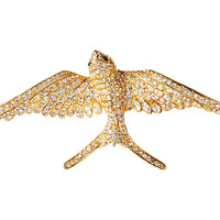 18K Gold Overlay Pavé Sparrow Brooch, Brooches & Pin/Pendants