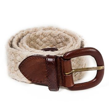 rsajbt - Unisex Jute and Leather Belt