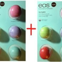 Eos Organic Smooth Sphere Lip Balm - 2 each Summer Fruit, Sweet Mint, Strawberry Sorbet, Passion Fruit, Blueberry Acai .25oz each (2x 5 Pack)