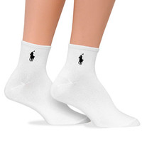 Ralph Lauren Supersoft Quarter Socks 2 Pack