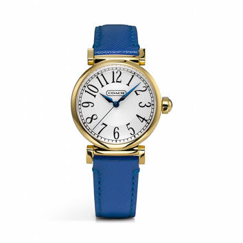 MADISON GOLD PLATED STRAP WATCH