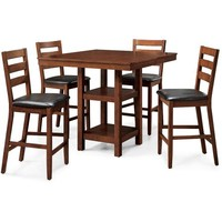 Better Homes and Gardens Dalton Park 5-Piece Counter Height Dining Set, Mocha - Walmart.com